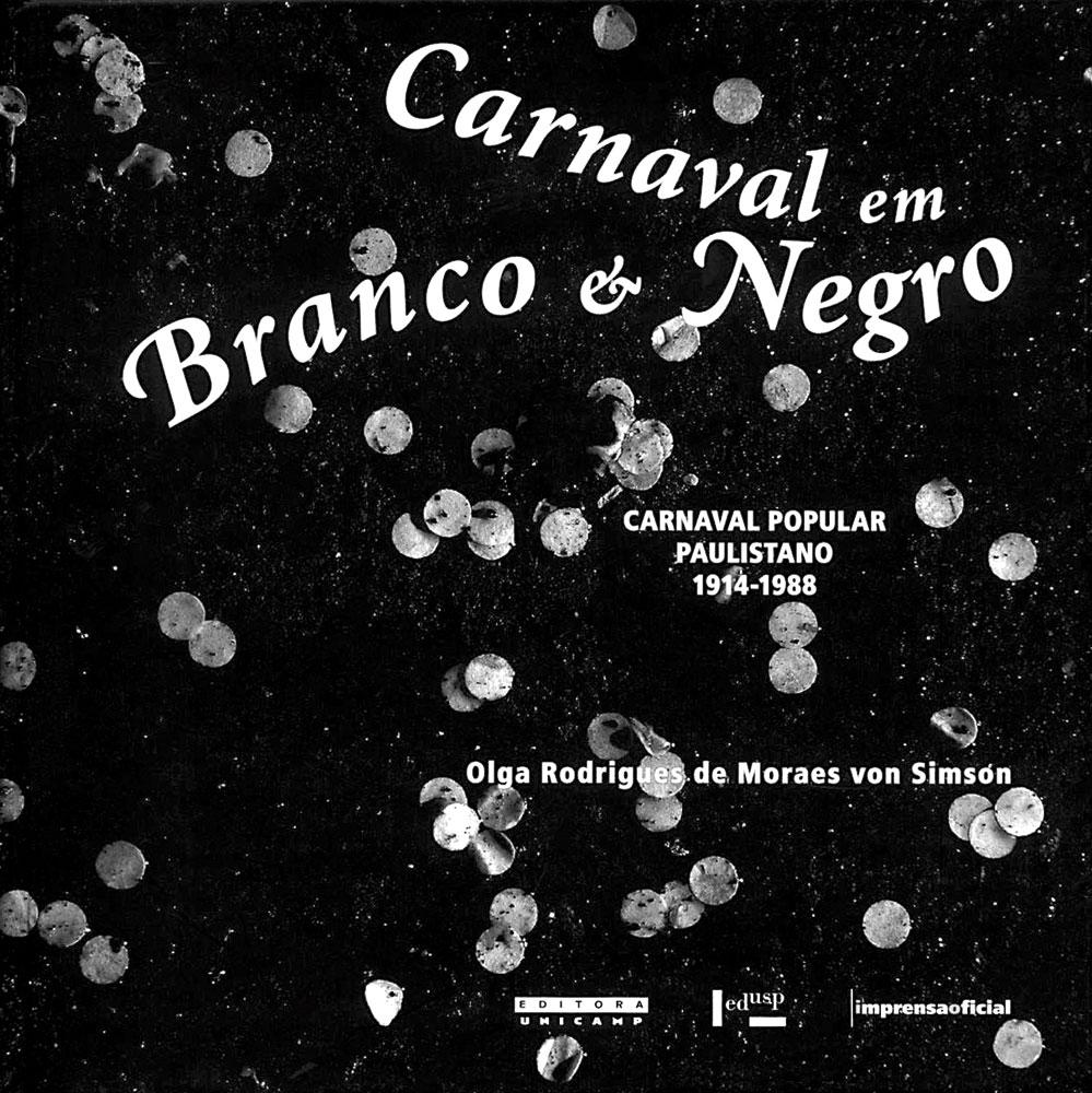 Capa de Carnaval em Branco e Negro