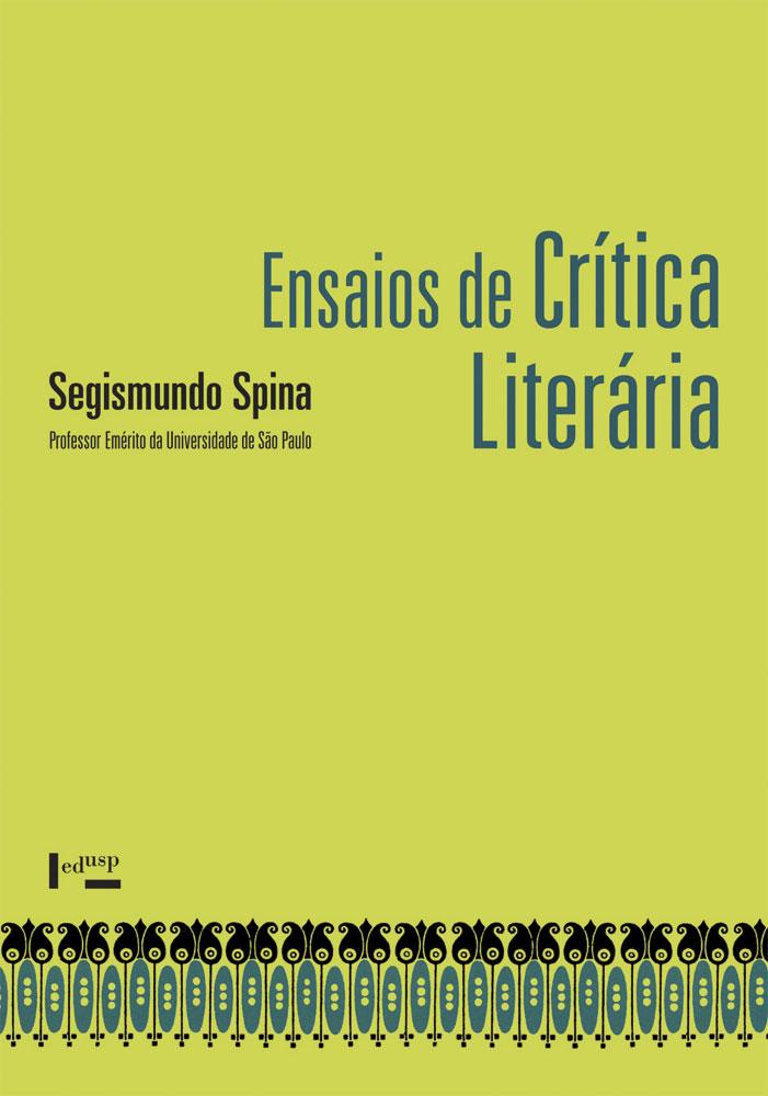 Capa de Ensaios de Crítica Literária