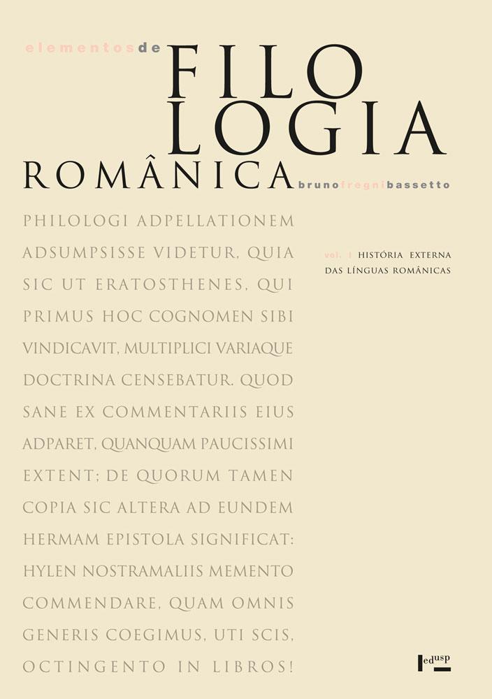 Capa de Volume 1 de Elementos de Filologia Românica