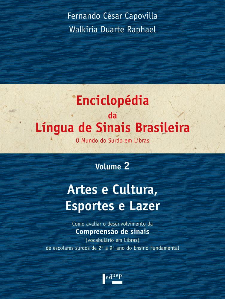 Capa de volume 2 de Enciclopédia da Língua de Sinais Brasileira