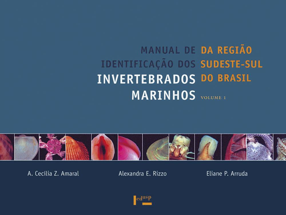 Capa de Manual de Identificação dos Invertebrados Marinhos da Região Sudeste-Sul do Brasil