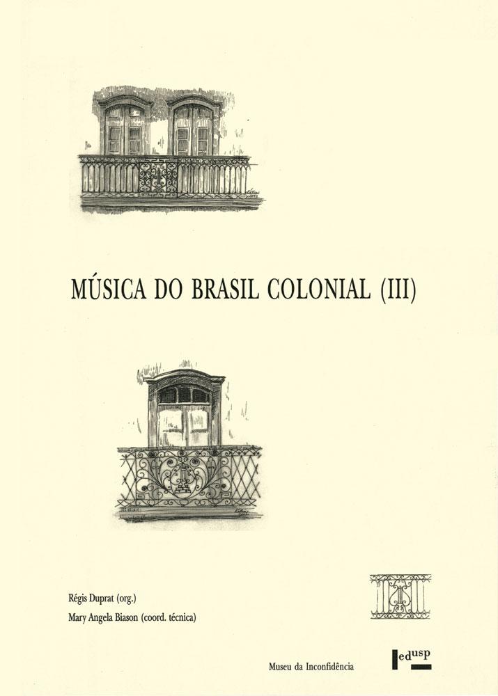 Capa de Música do Brasil Colonial III
