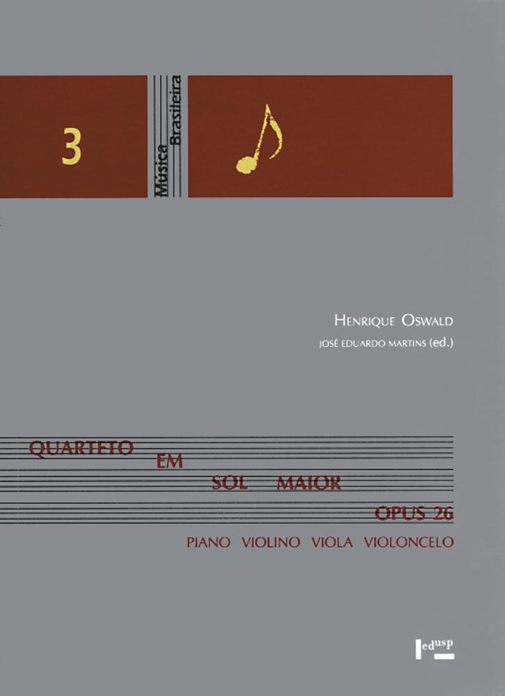 Capa de Quarteto em Sol Maior Opus 26