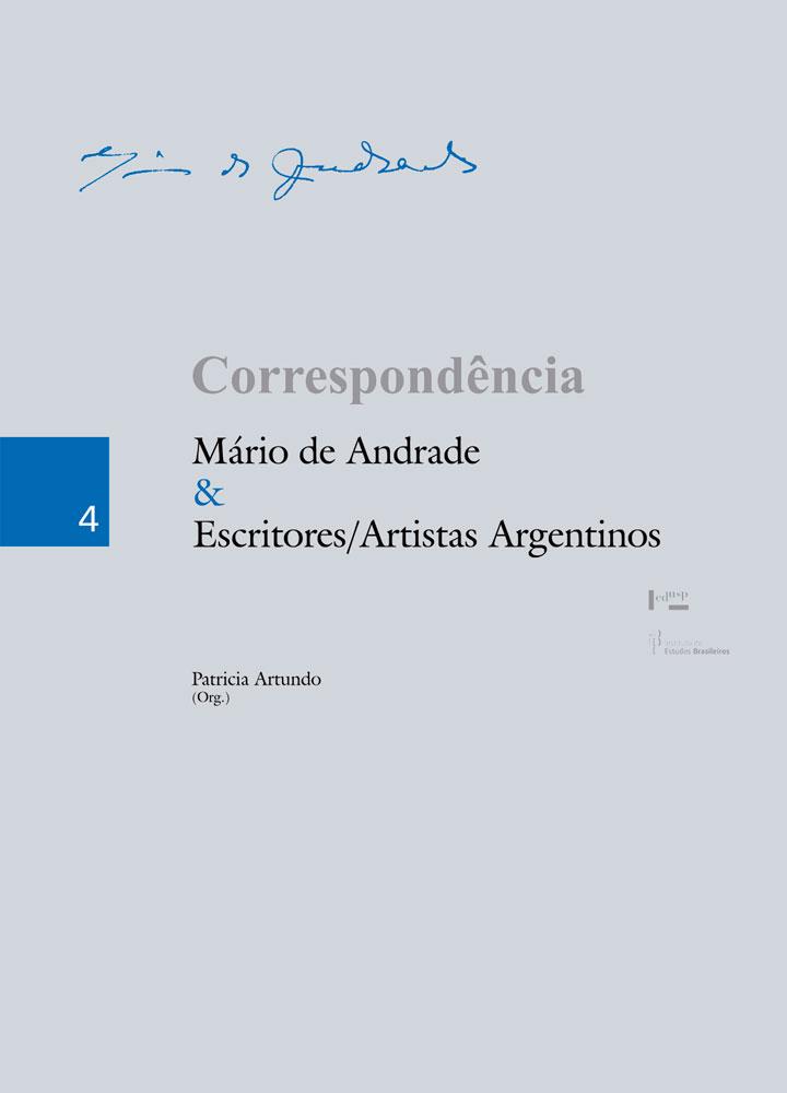 Capa de Correspondência Mário de Andrade & Escritores/Artistas Argentinos