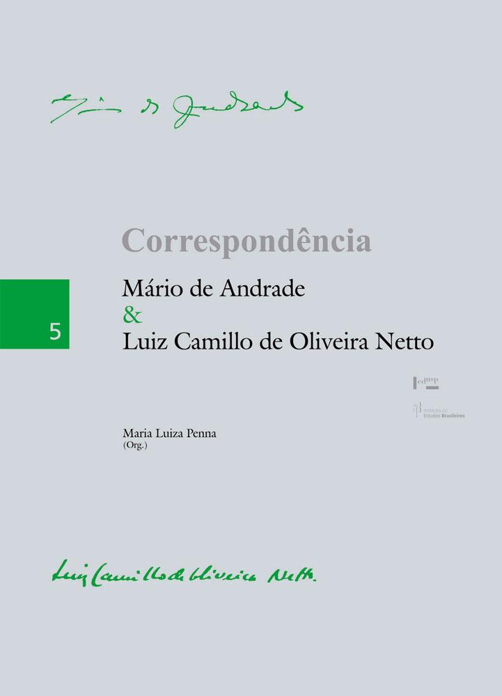 Capa de Correspondência Mário de Andrade & Luiz Camillo de Oliveira Netto