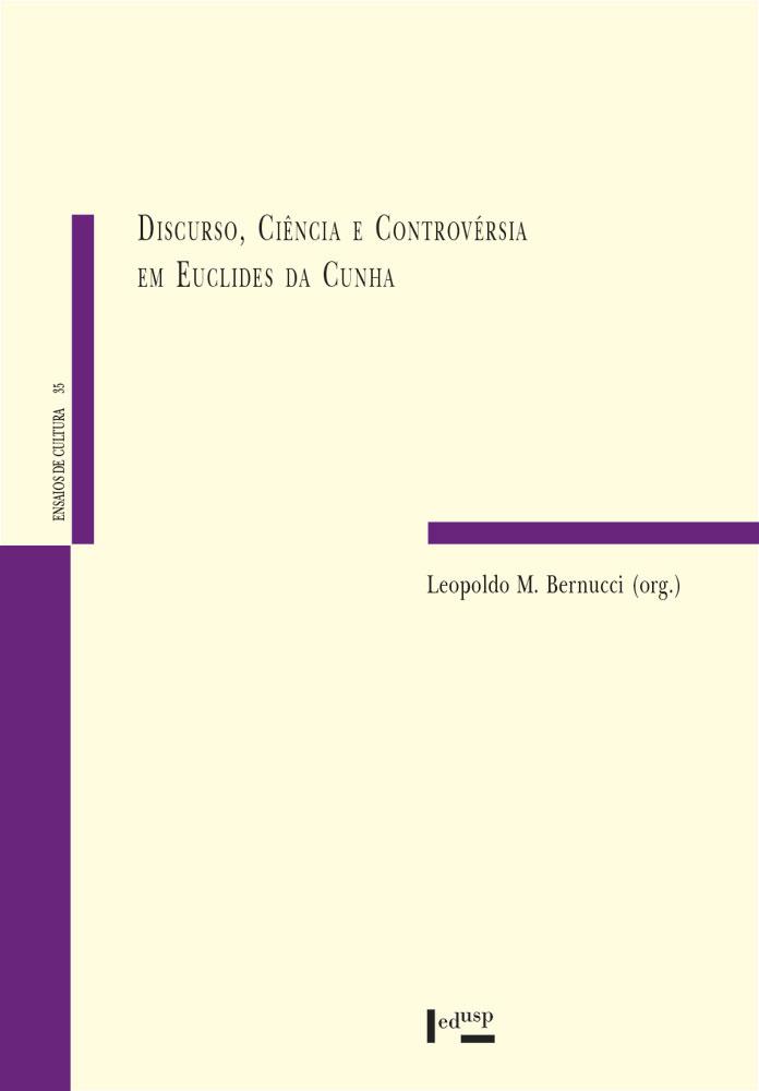 Capa de Discurso, Ciência e Controvérsia em Euclides da Cunha
