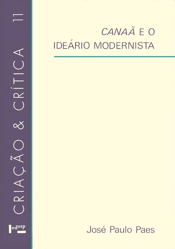 Capa de Canaã e o Ideário Modernista