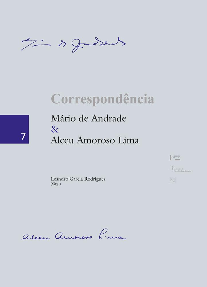 Capa de Correspondência Mário de Andrade & Alceu Amoroso Lima