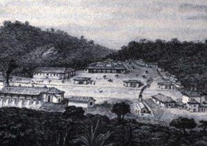 """Fábrica de Ferro São João de Ipanema"" (1820), pintura de Jean-Baptiste Debret"
