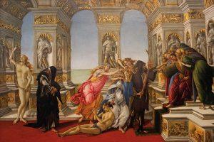 A calúnia de Apeles (1495), de Sandro Botticelli
